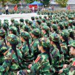 中国の大学の軍事訓練