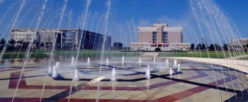 中国の大学のキャンパス