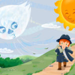 昔話の読解教材㉔ 『北風と太陽』