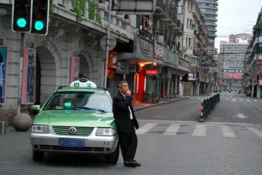 中国のタクシー