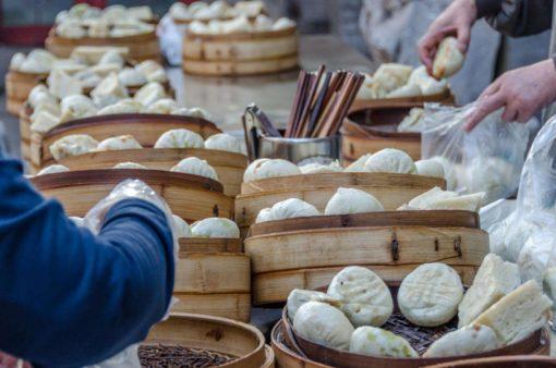 中国の肉まんとマントウ