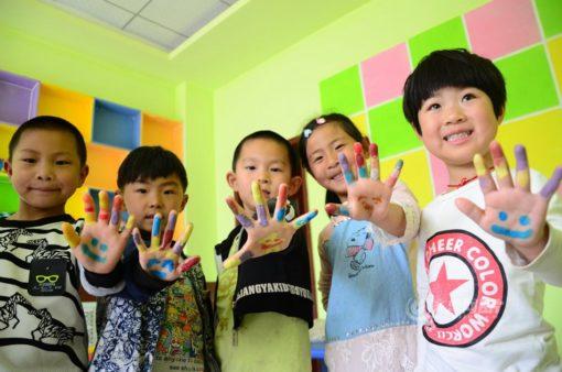 中国の子どもたちのマナー向上と気さくさ