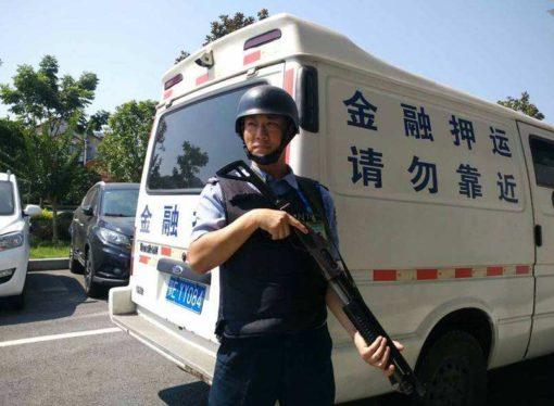 中国の銀行の現金輸送